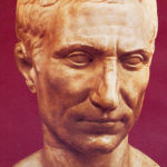 JuliusCaesar bust red background
